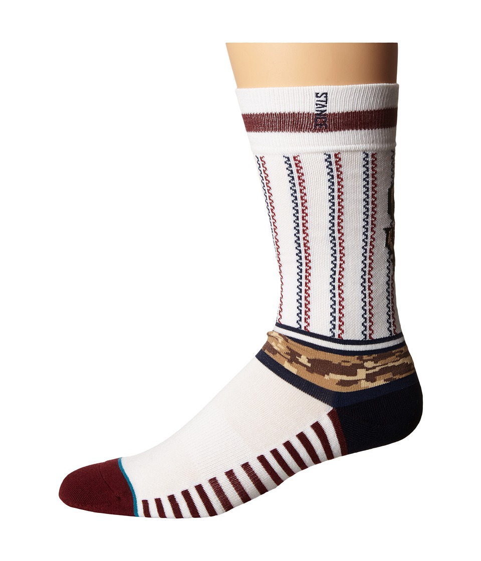 Stance - Sentry Giants (White) Men's Crew Cut Socks Shoes