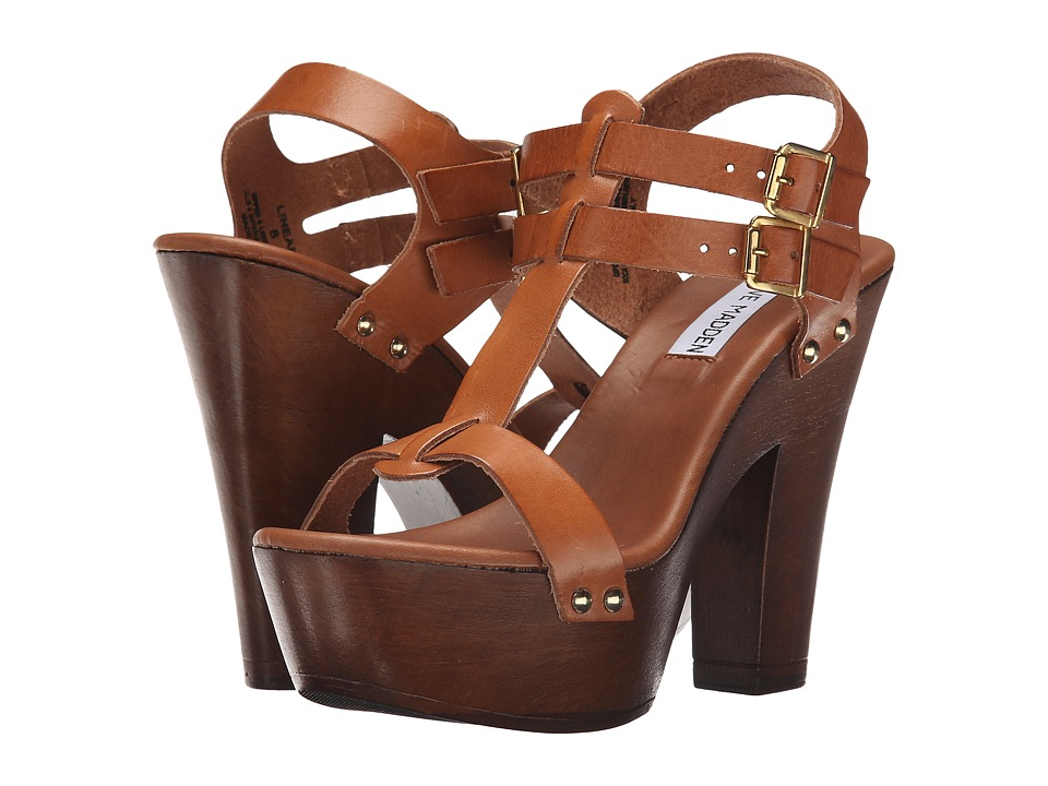 Steve Madden - Linear (Cognac Leather) Women's Dress Sandals