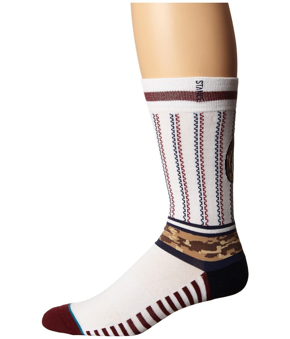 Stance - Sentry Orioles (White) Men's Crew Cut Socks Shoes
