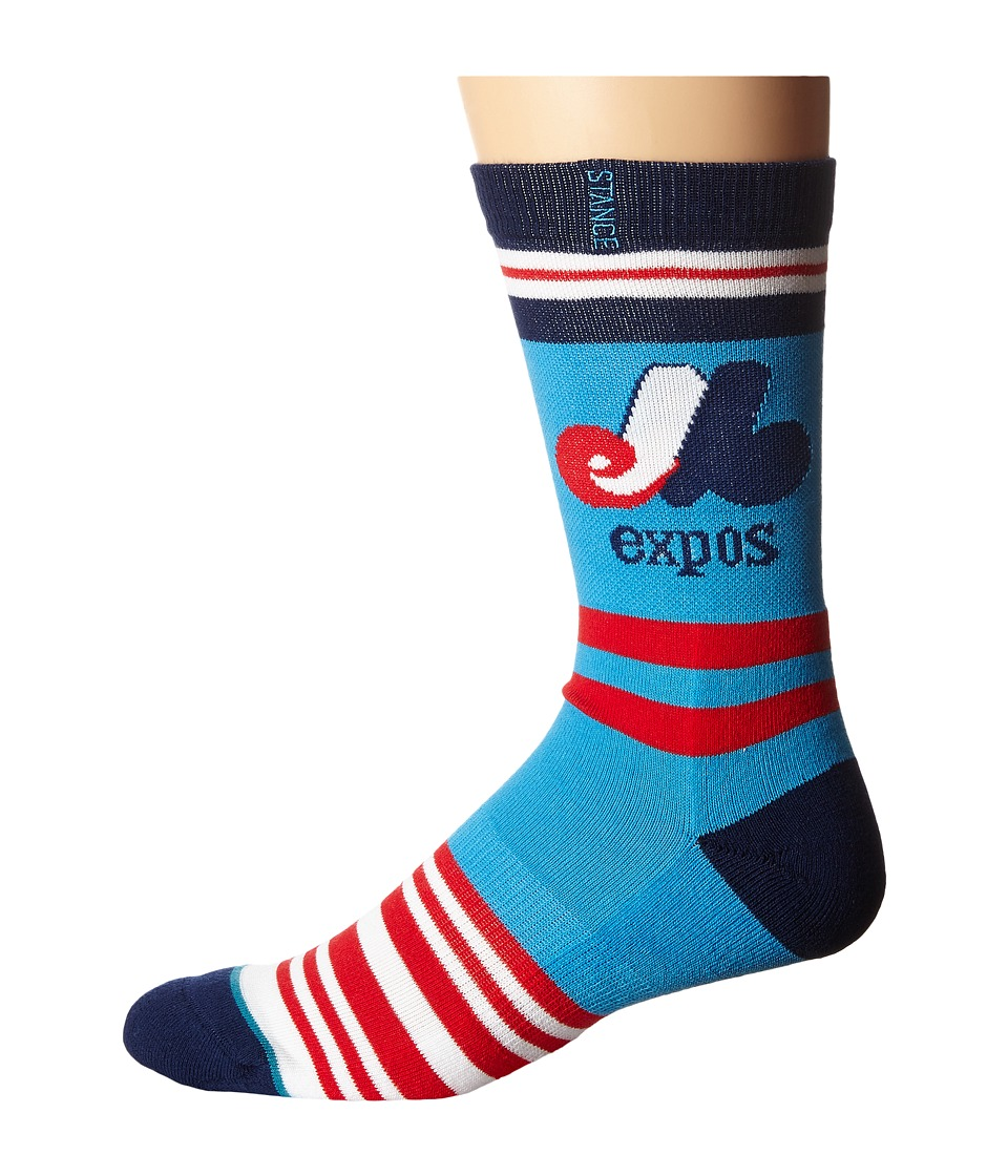 Stance - Expos (Blue) Men's Crew Cut Socks Shoes