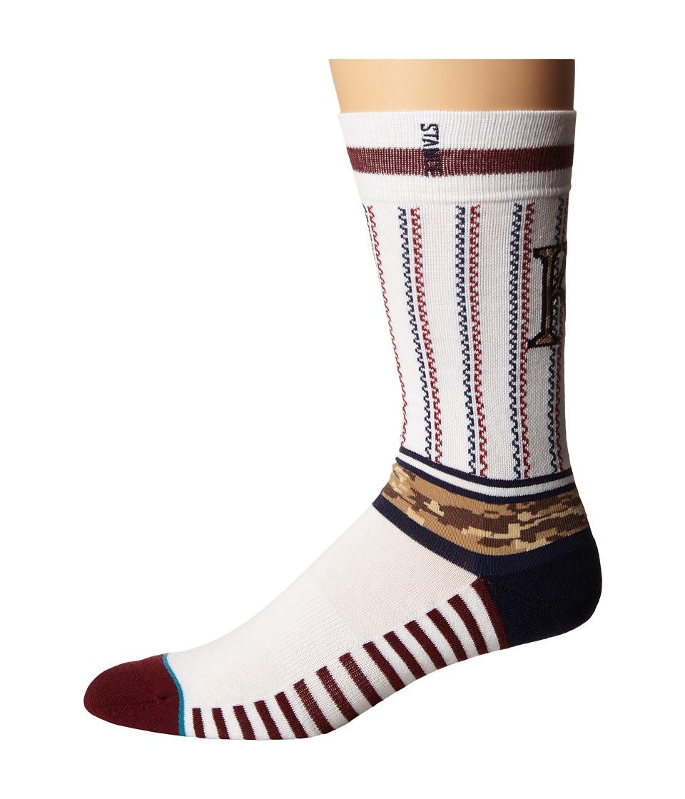 Stance - Sentry Royals (White) Men's Crew Cut Socks Shoes