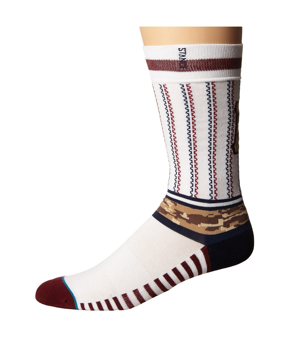 Stance - Sentry Pirates (White) Men's Crew Cut Socks Shoes