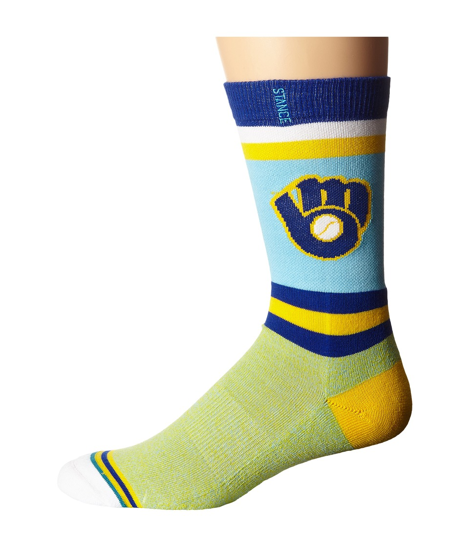 Stance - Brew Crew (Blue) Men's Crew Cut Socks Shoes