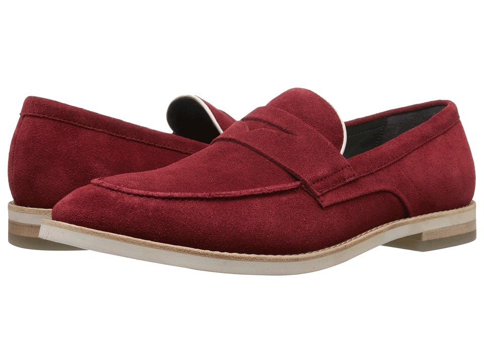 Calvin Klein Andron (Dark Red/Latte Oily Suede/Smooth) Men