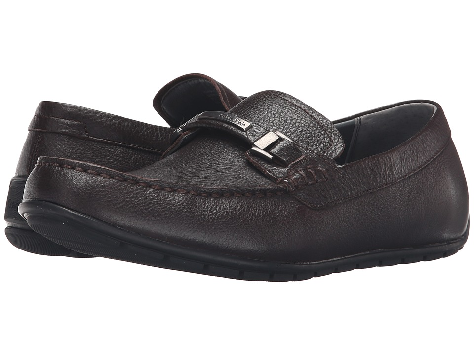 Calvin Klein Ignacio (Dark Brown Tumbled Cow Leather) Men