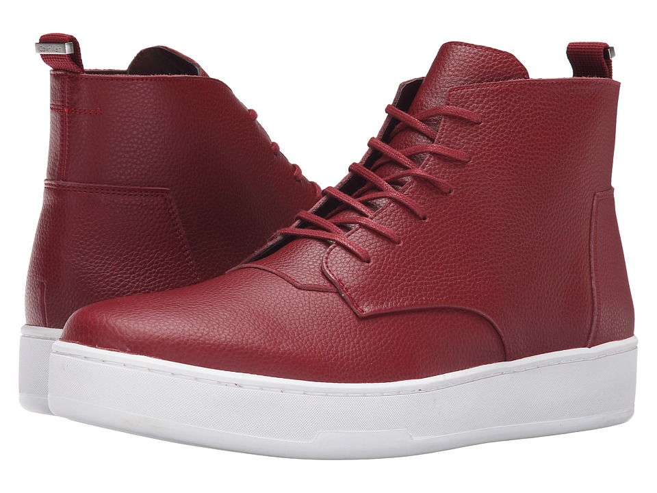 Calvin Klein Natel (Dark Red Tumbled Leather) Men