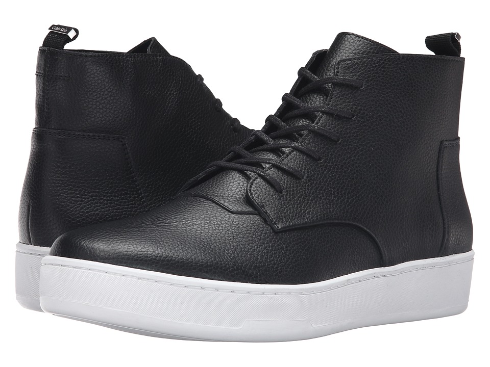 Calvin Klein Natel (Black Tumbled Leather) Men
