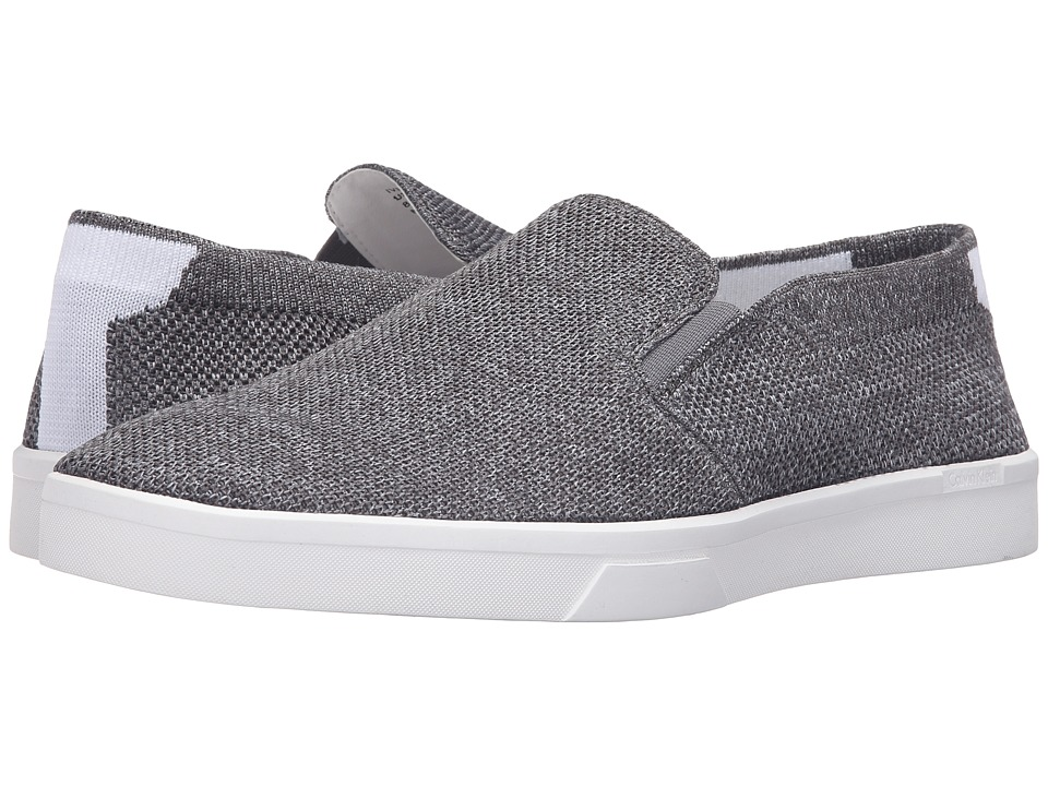 Calvin Klein - Ives (Grey Heathered Knit) Men's Slip on Shoes