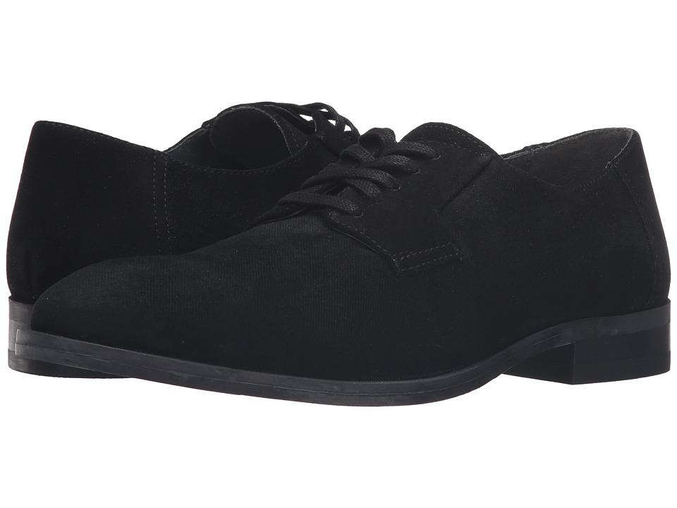 Calvin Klein Shayne Black Oily Suede-Emboss Mens Lace up casual Shoes