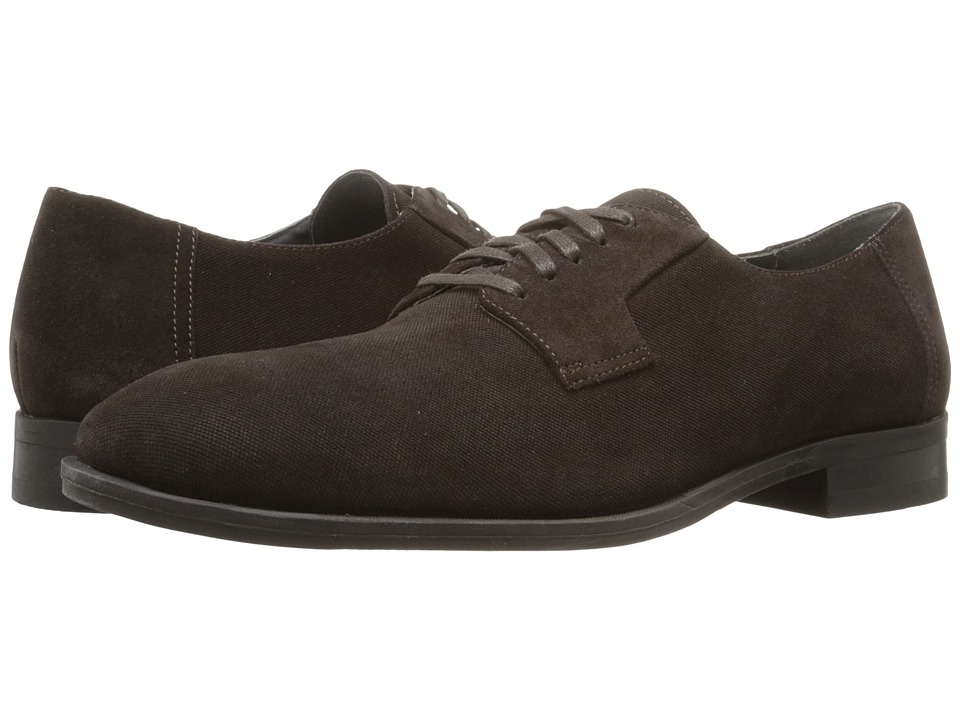 Calvin Klein Shayne (Dark Brown Oily Suede/Emboss) Men