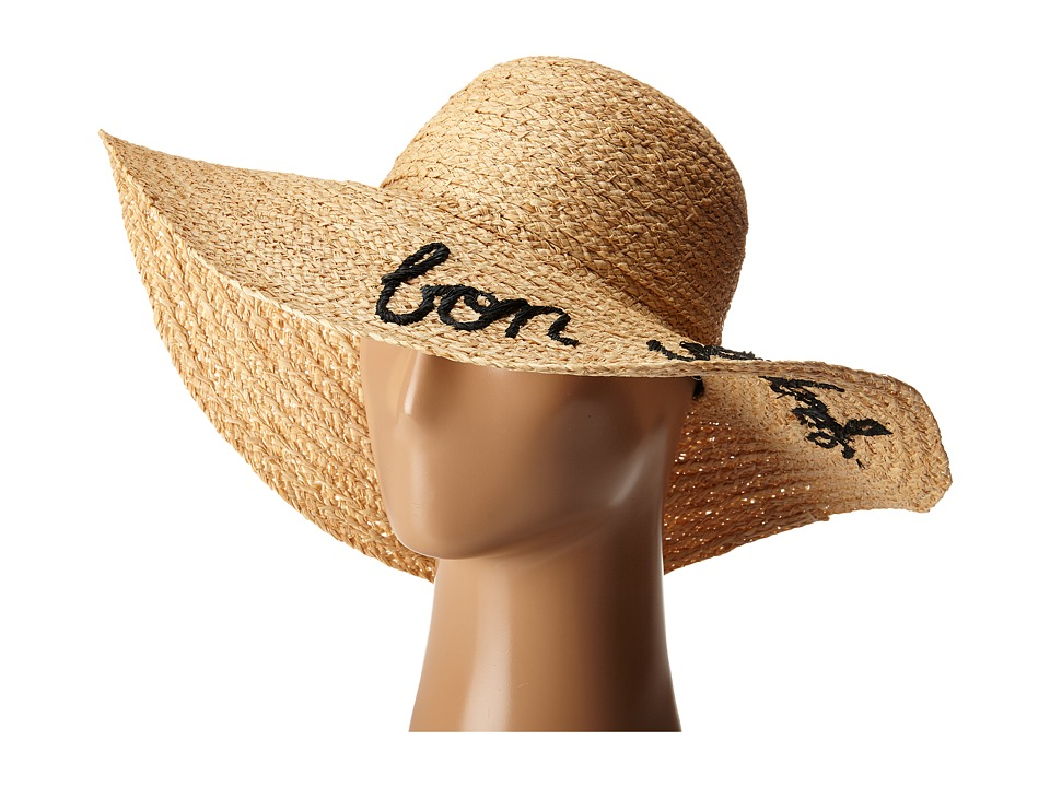 Hat Attack - What's Your Motto Sun Hat (Black/Bon Voyage) Caps