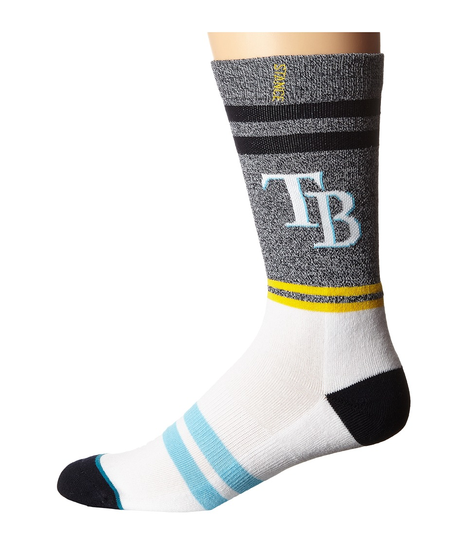 Stance - Rays (Blue) Men's Crew Cut Socks Shoes