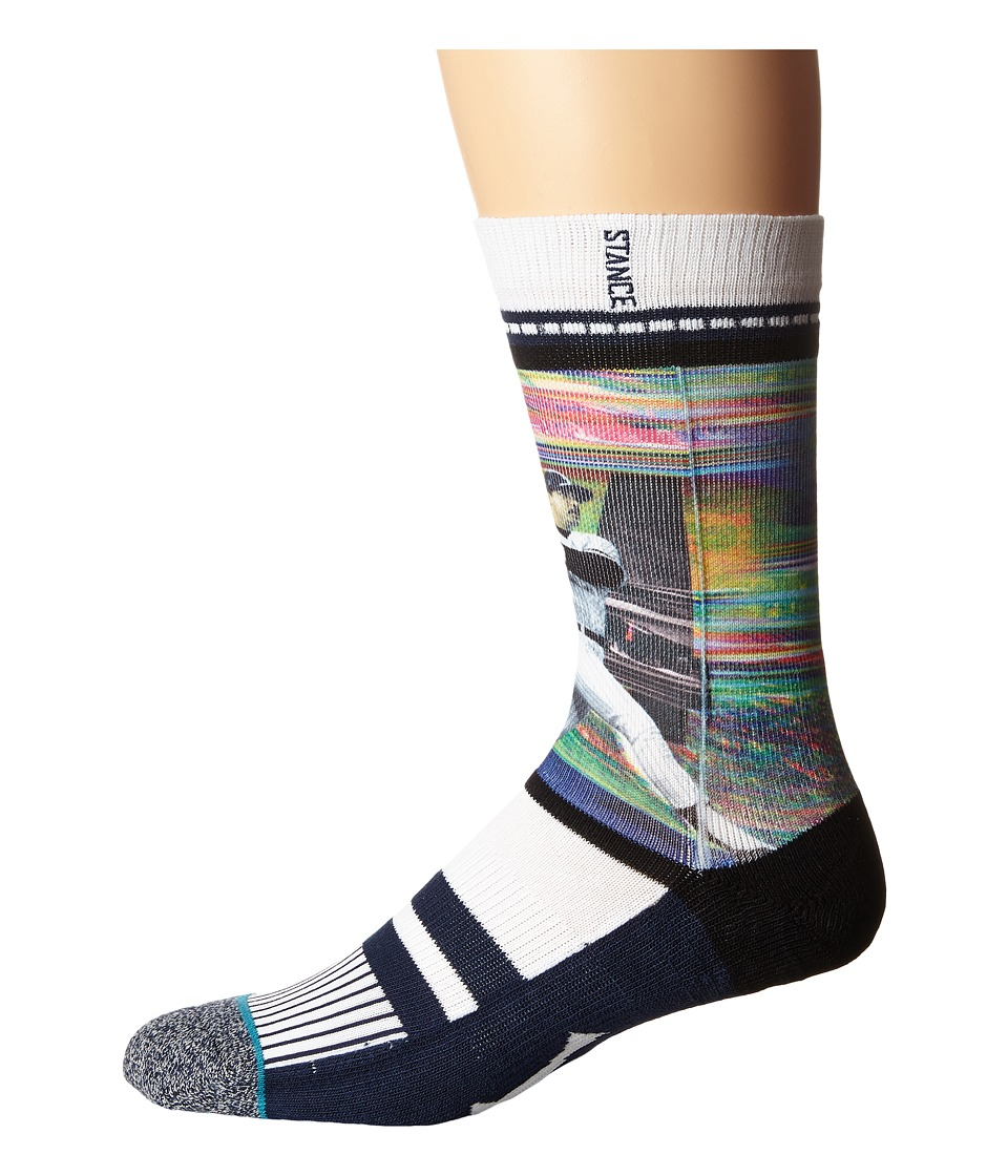 Stance - Reggie Jackson (White) Men's Crew Cut Socks Shoes
