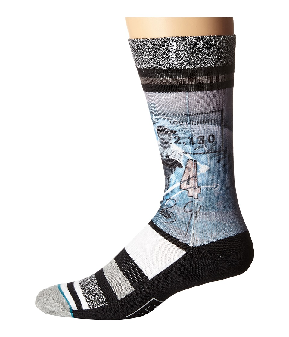 Stance - Lou Gehrig (Black) Men's Crew Cut Socks Shoes