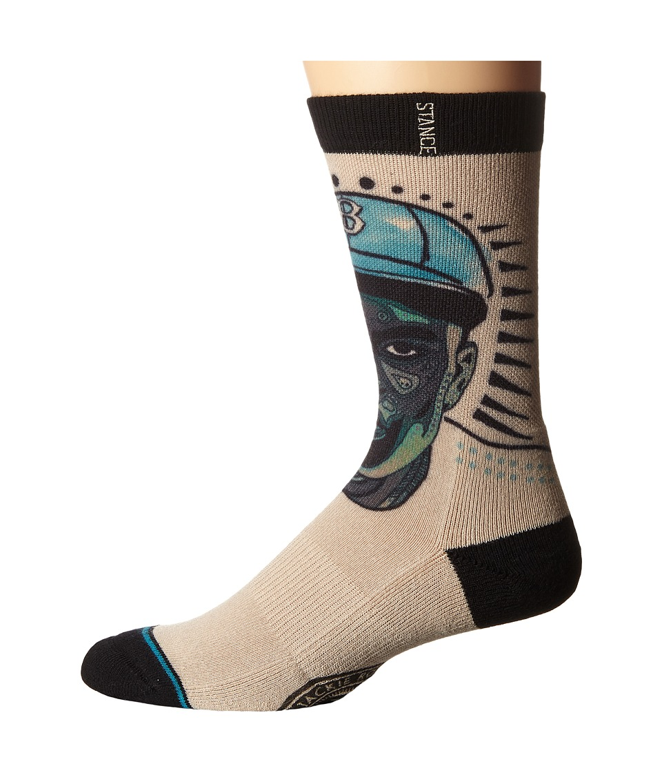 Stance - Respect (Black) Men's Crew Cut Socks Shoes