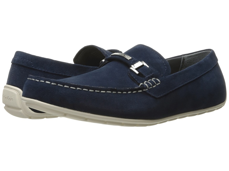 Calvin Klein Ignacio (Dark Navy Oily Suede) Men