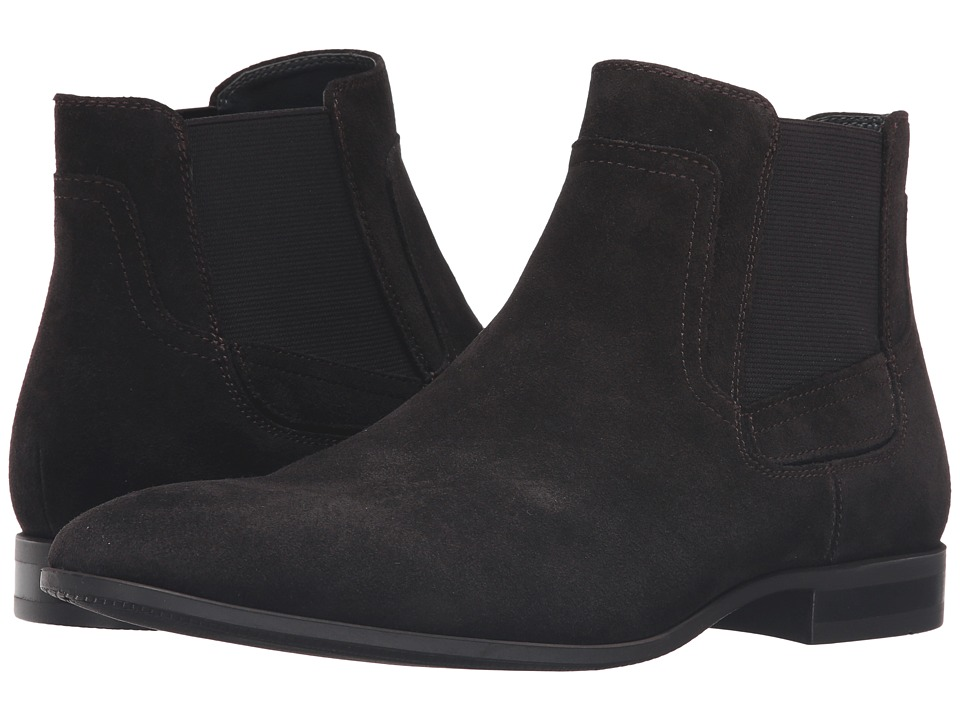 Calvin Klein - Clarke (Dark Brown Oily Suede/Gore) Men's Boots