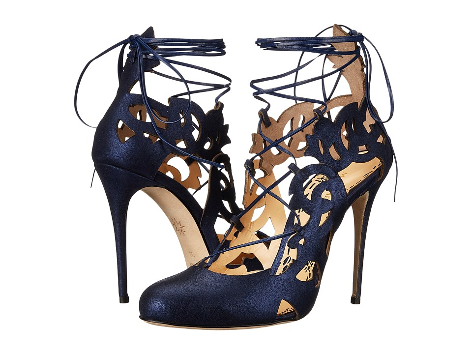 Marchesa Jillian (Navy Metallic Brushed Suede) Women