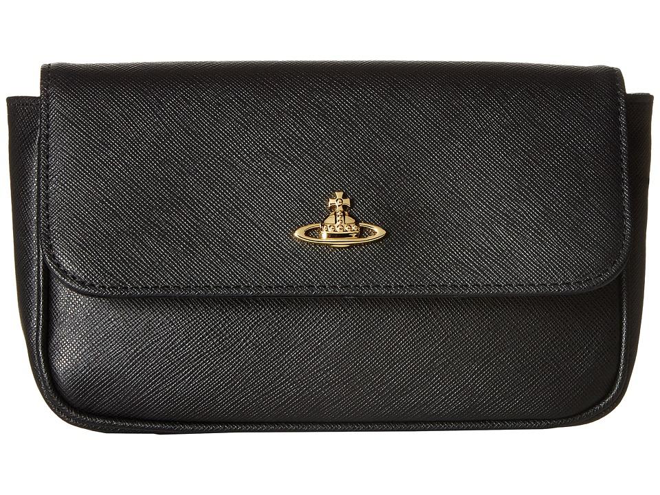 Vivienne Westwood - Saffiano (Black) Clutch Handbags