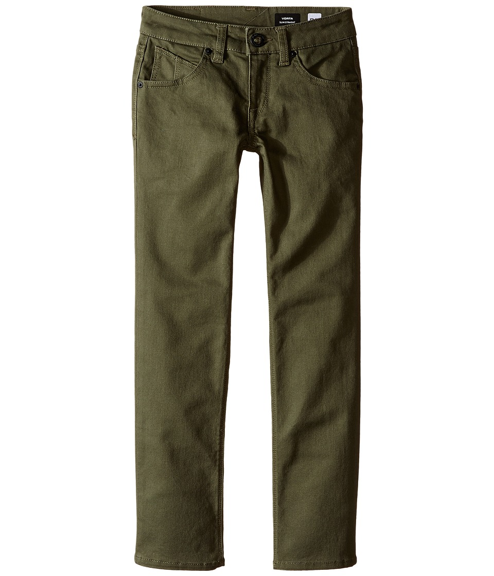 Volcom Kids - Vorta Twill (Big Kids) (Military) Boy's Jeans