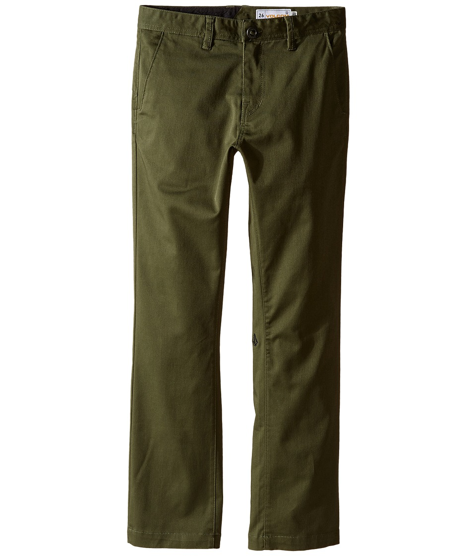 Volcom Kids - Frickin Modern Stretch Chino Pants (Big Kids) (Military) Boy's Casual Pants
