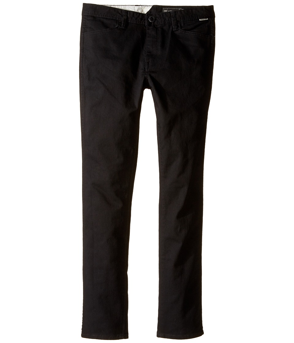 Volcom Kids - VSM Gritter Modern Tapered Chino Pants (Big Kids) (Black) Boy's Casual Pants