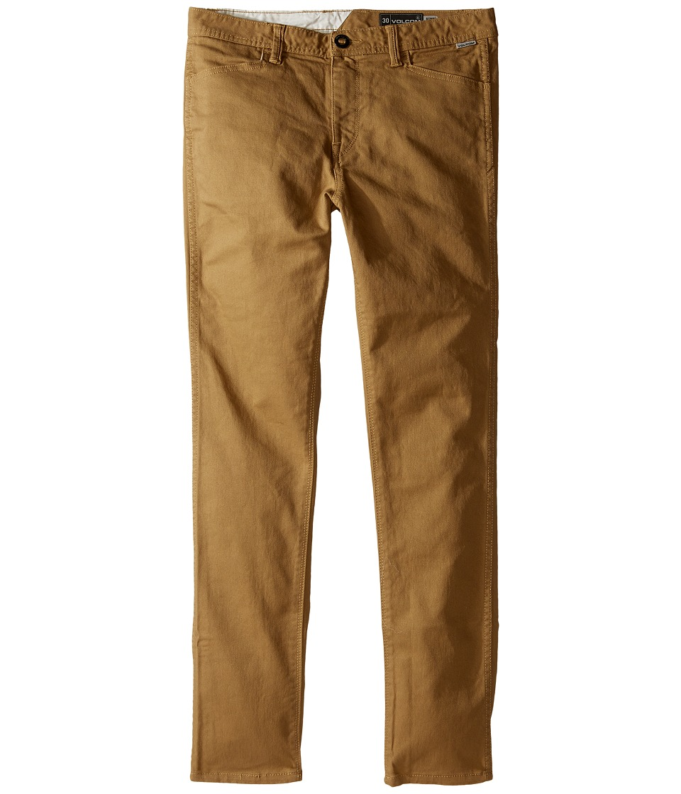 Volcom Kids - VSM Gritter Modern Tapered Chino Pants (Big Kids) (Dark Khaki) Boy's Casual Pants