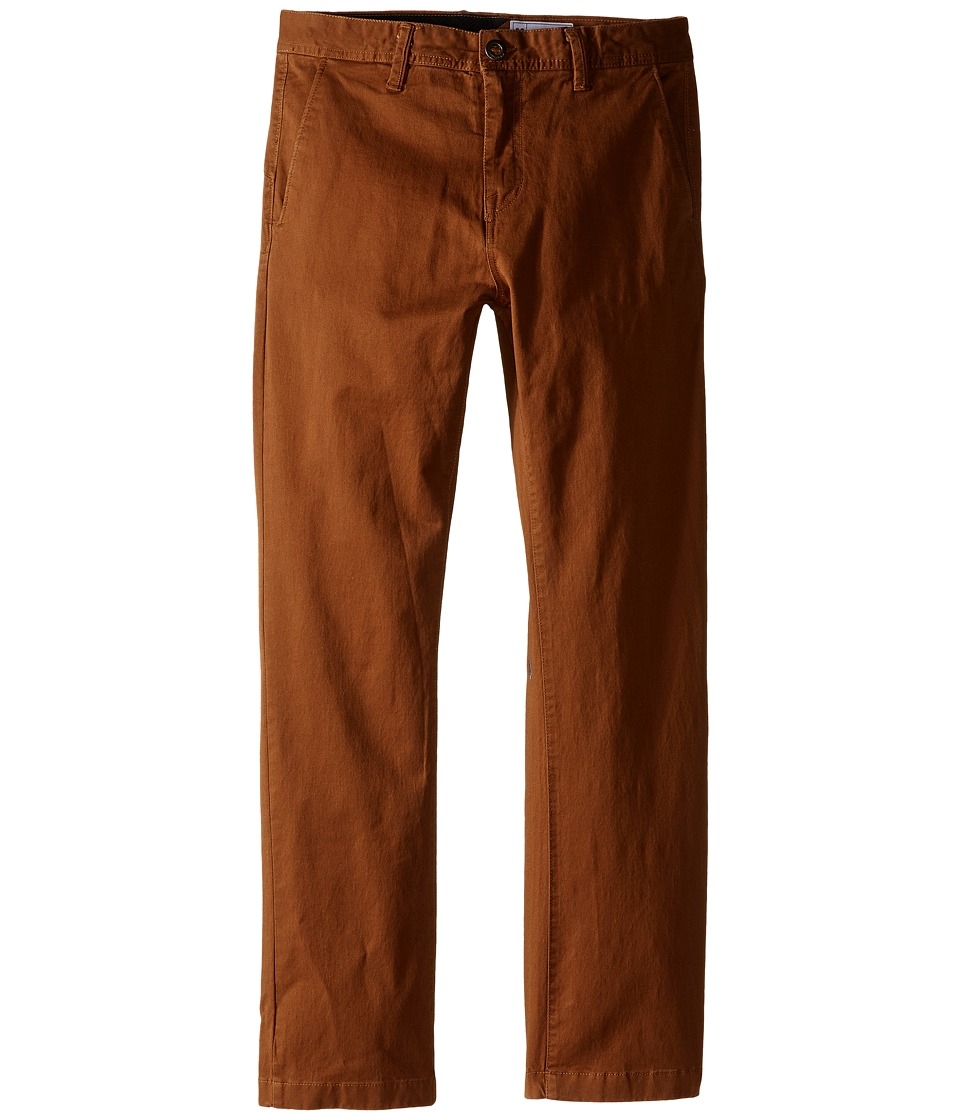 Volcom Kids - Frickin Slim Chino Pants (Big Kids) (Mud) Boy's Casual Pants