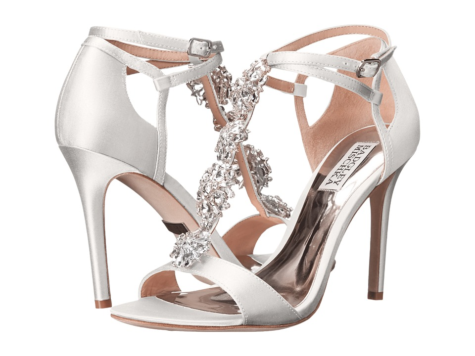 Badgley Mischka - Leigh (White Satin) High Heels