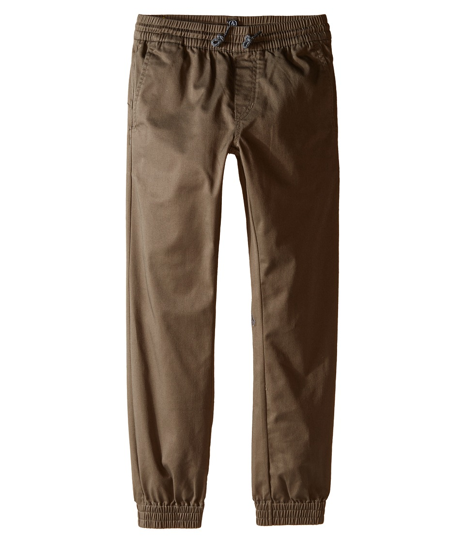 Volcom Kids - Frickin Slim Jogger (Big Kids) (Mushroom) Boy's Casual Pants