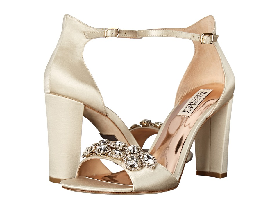 Badgley Mischka - Lennox (Ivory Satin) High Heels