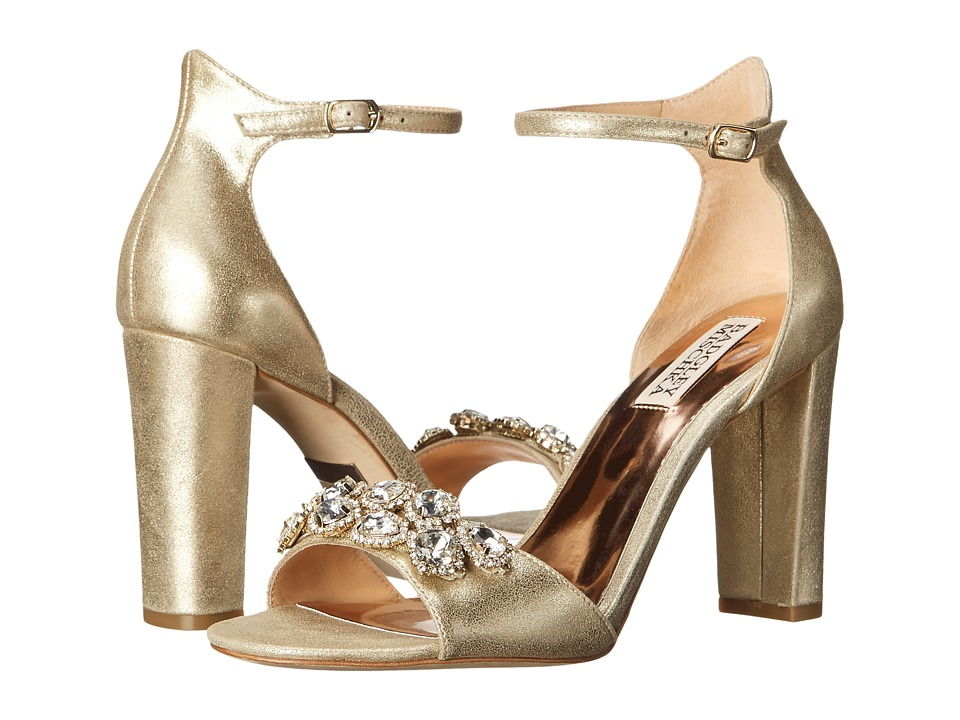 Badgley Mischka - Lennox II (Platino Metallic Suede) High Heels