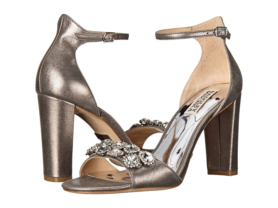 Badgley Mischka - Lennox II (Pewter Metallic Suede) High Heels