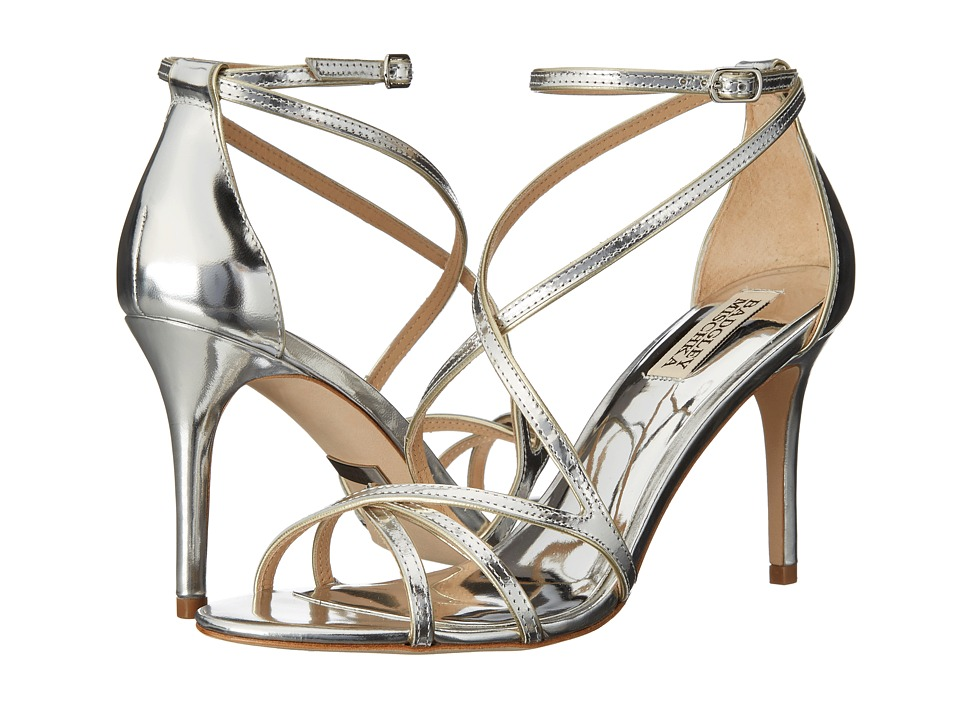Badgley Mischka - Lillian (Silver Metallic Specchio Leather) High Heels