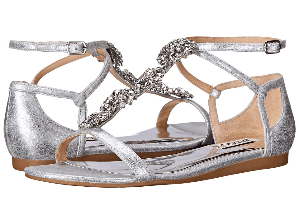 Badgley Mischka Lilli (Silver Metallic Suede) Women