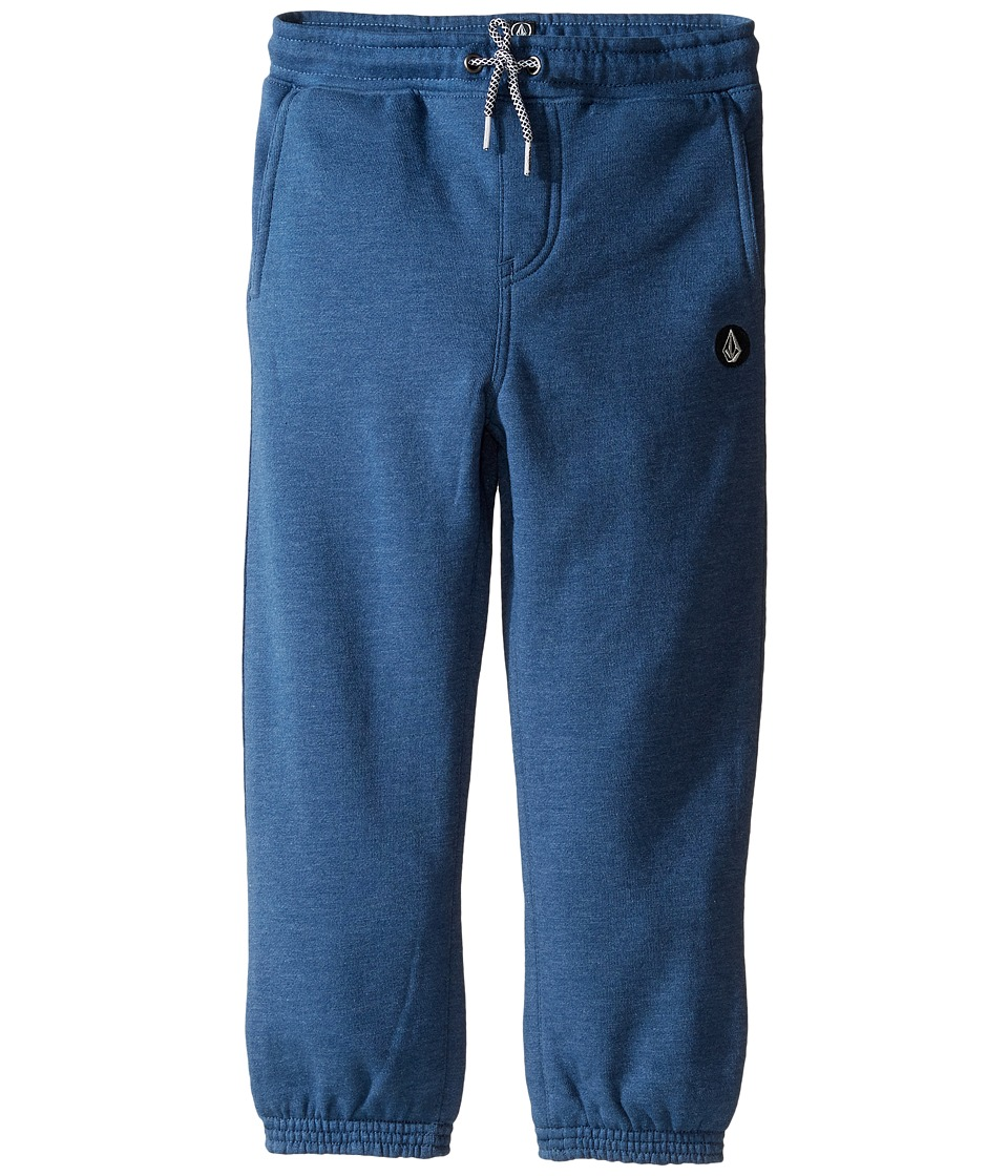 Volcom Kids - Single Stone Fleece Pants (Toddler/Little Kids) (Smokey Blue Heather) Boy's Fleece