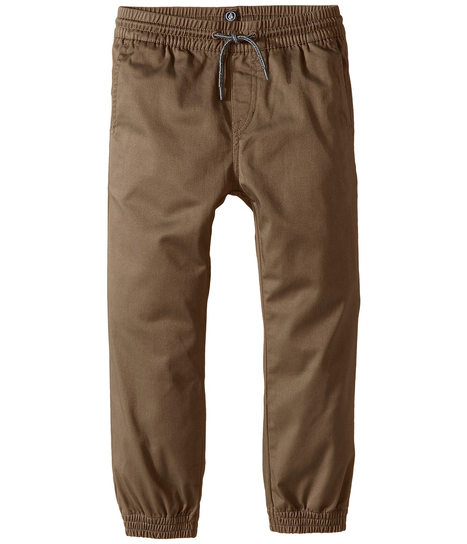 Volcom Kids - Frickin Slim Jogger (Toddler/Little Kids) (Mushroom) Boy's Casual Pants