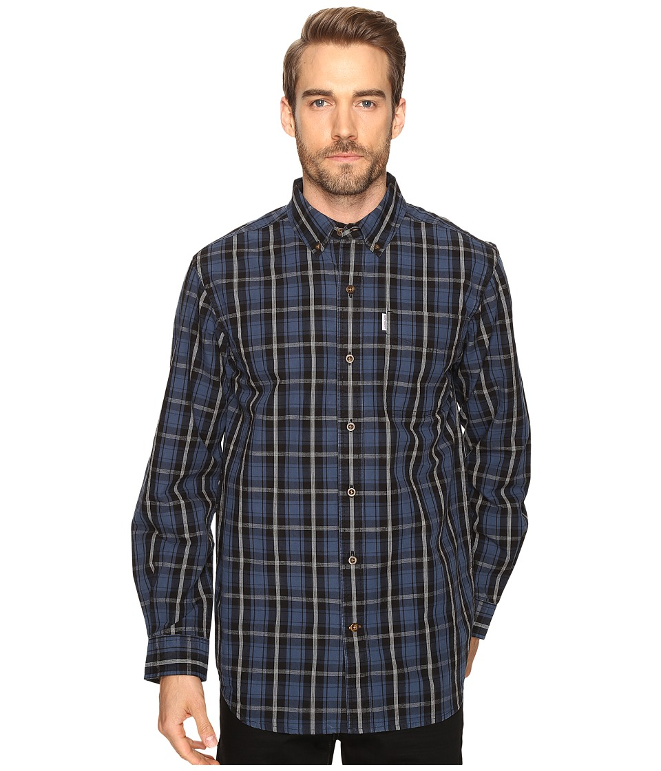 Carhartt - Bellevue Long Sleeve Shirt (Dark Cobalt) Men's Long Sleeve Button Up