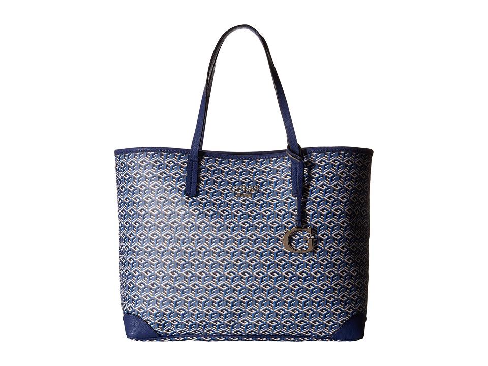 GUESS - G Cube G-Tote (Indigo) Tote Handbags