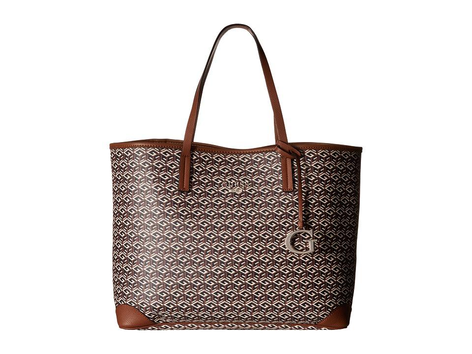 GUESS - G Cube G-Tote (Mocha) Tote Handbags