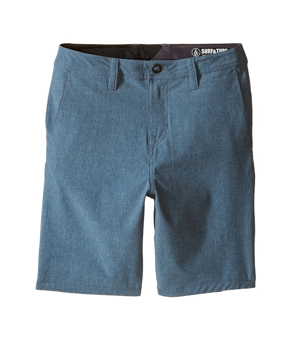 Volcom Kids - SNT Static Hybrid Shorts (Big Kids) (Smokey Blue) Boy's Shorts