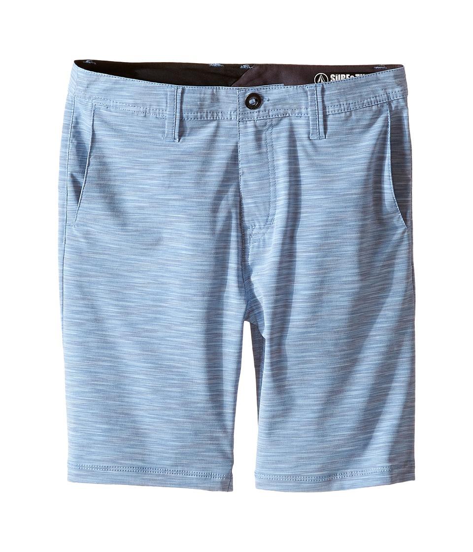 Volcom Kids - SNT Mix Hybrid Shorts (Big Kids) (Airforce Blue) Boy's Shorts