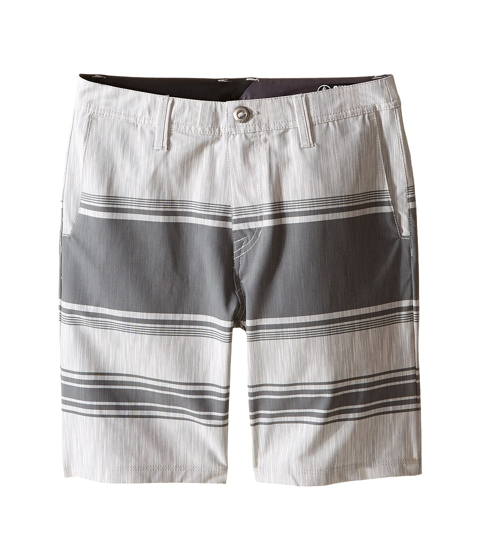 Volcom Kids - SNT Mix Hybrid Shorts (Big Kids) (Pewter) Boy's Shorts