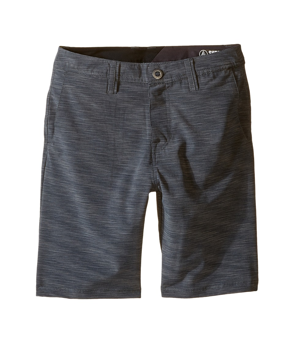 Volcom Kids - SNT Mix Hybrid Shorts (Big Kids) (Stealth) Boy's Shorts