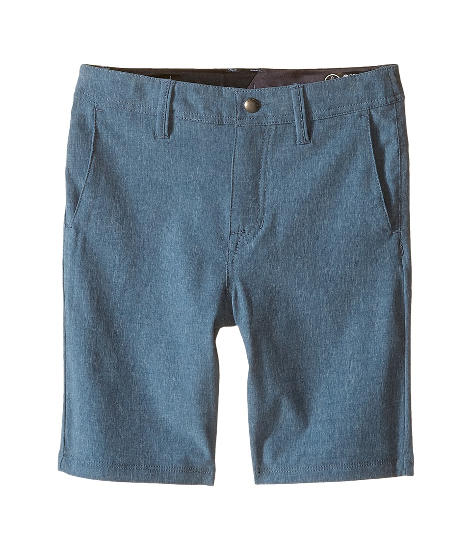 Volcom Kids - SNT Static Hybrid (Toddler/Little Kids) (Smokey Blue) Boy's Shorts