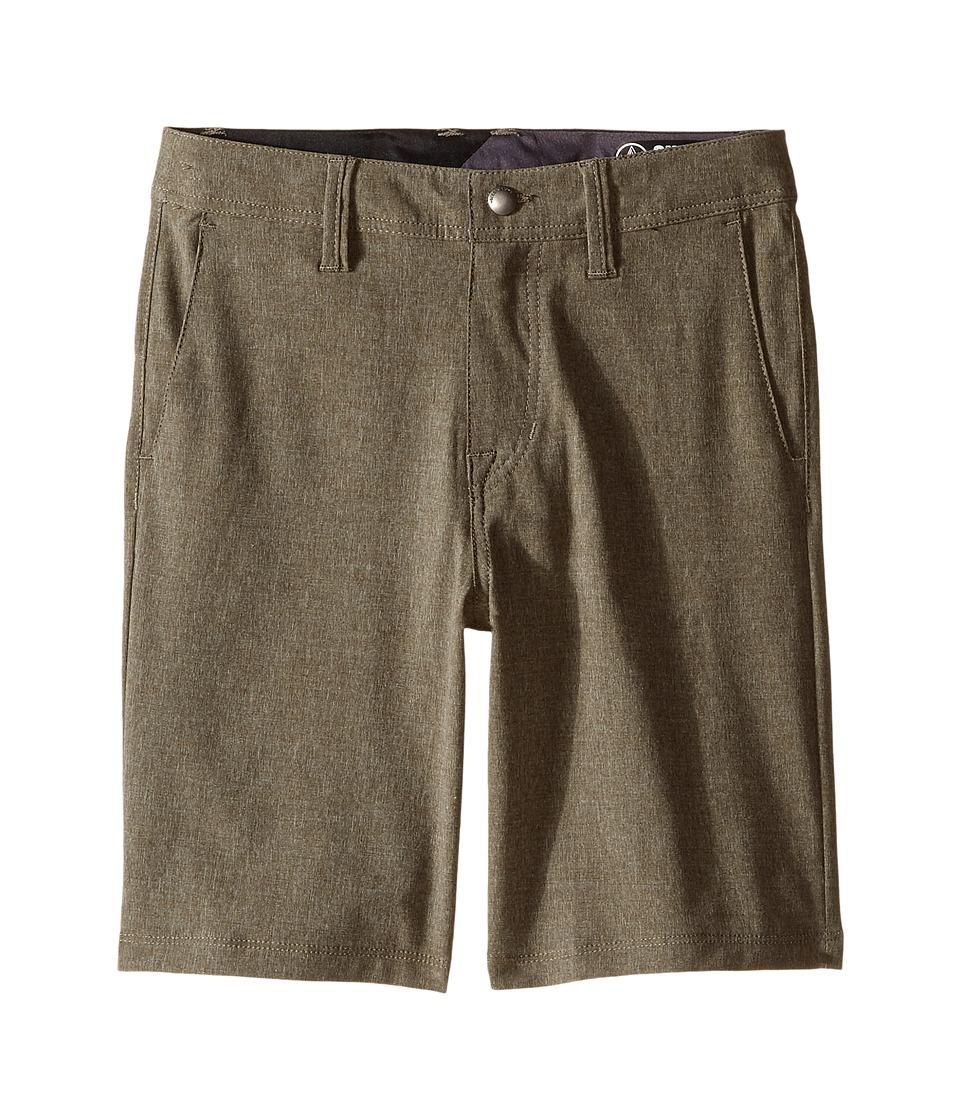 Volcom Kids - SNT Static Hybrid (Toddler/Little Kids) (Dark Chocolate) Boy's Shorts