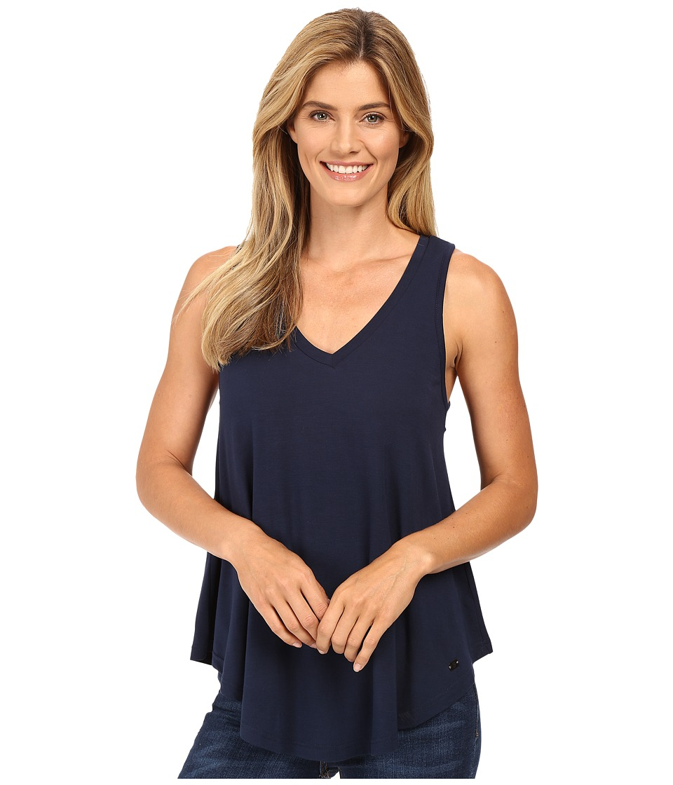 Stetson - Rayon Knit V-Neck Tank Top (Blue) Women's Sleeveless