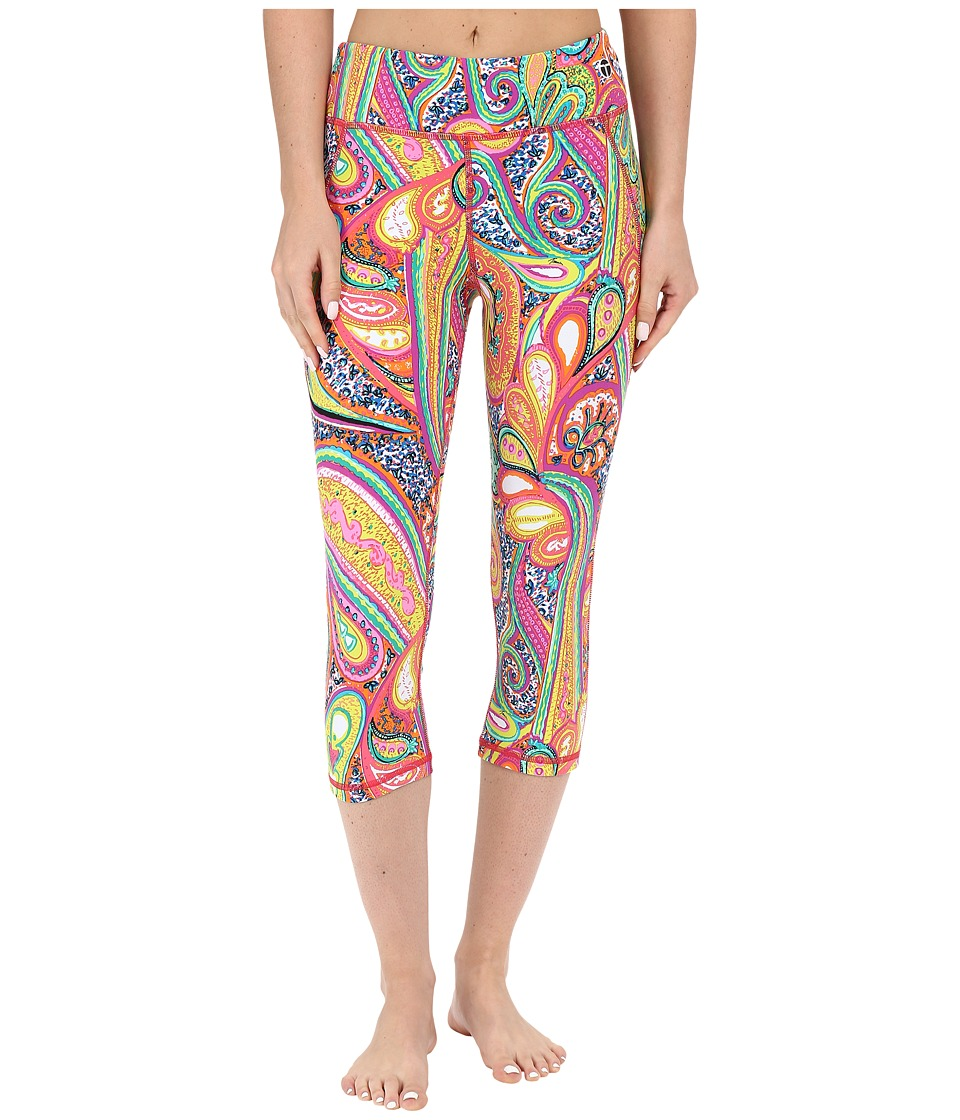 Trina Turk - Mediterranean Paisley Mid Length Leggings (Multi) Women's Casual Pants