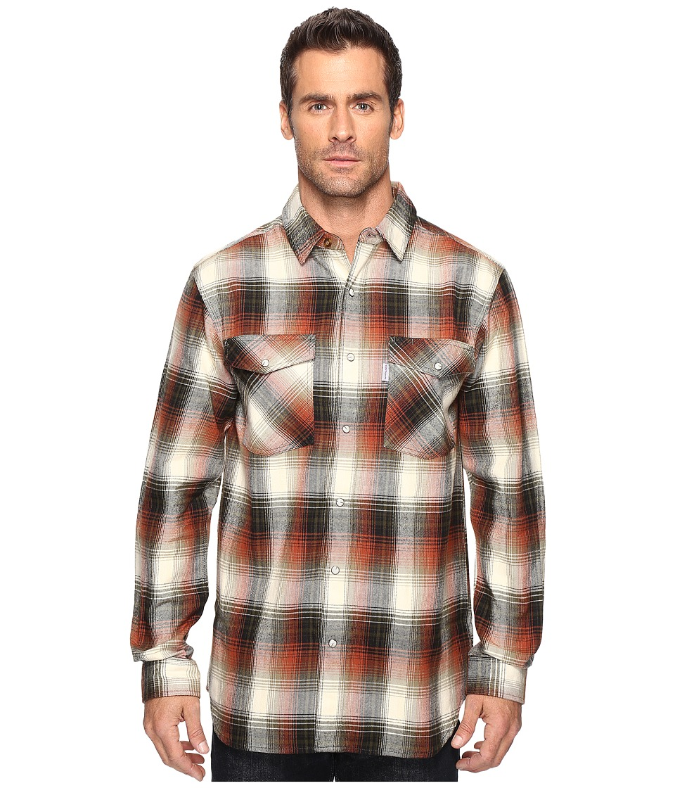 Carhartt - Trumball Snap Front Plaid Shirt (Olive) Men's Long Sleeve Button Up
