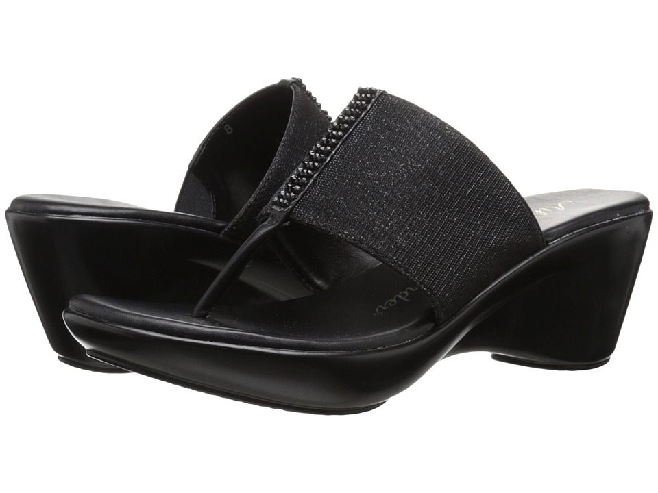 Athena Alexander - Rosalie (Black Sparkle) Women's Wedge Shoes